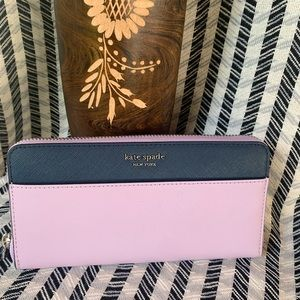 Large continental wallet lavender Kate spade NEW